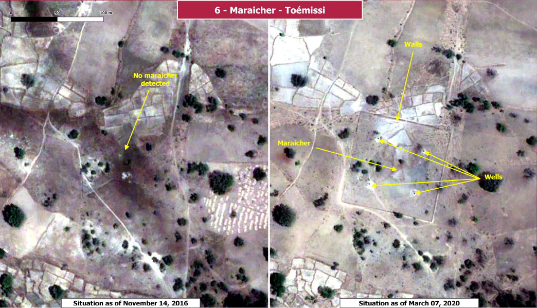 Figure3: Example of image analysis on 2small infrastructures.Images© CNES (2016, 2020), Distribution Airbus DS.